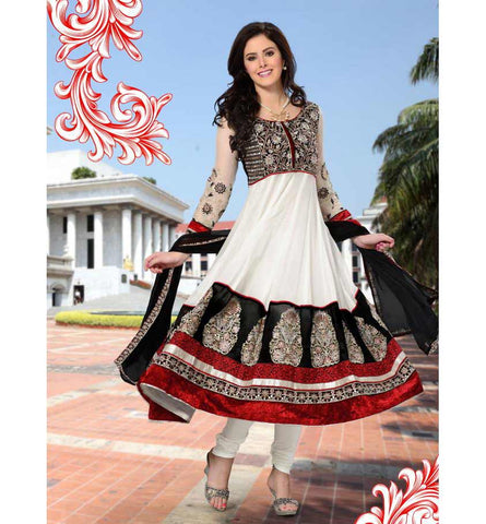 2017-A OUTSTANDING OFF WHITE SALWAR KAMEEZ RTRO2017