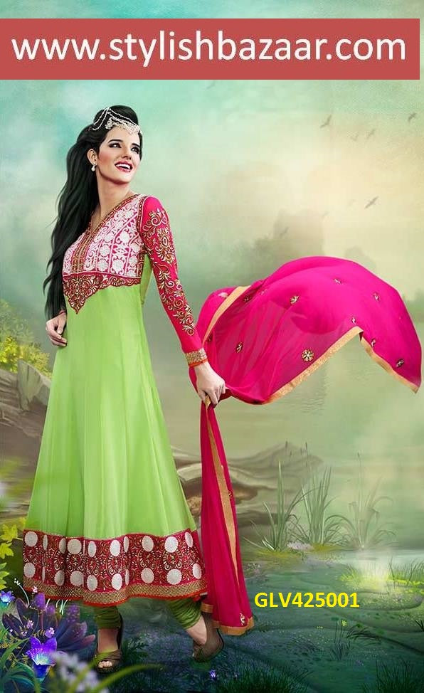SUPERB DESIGNER ANARKALI CHURIDAR SUIT