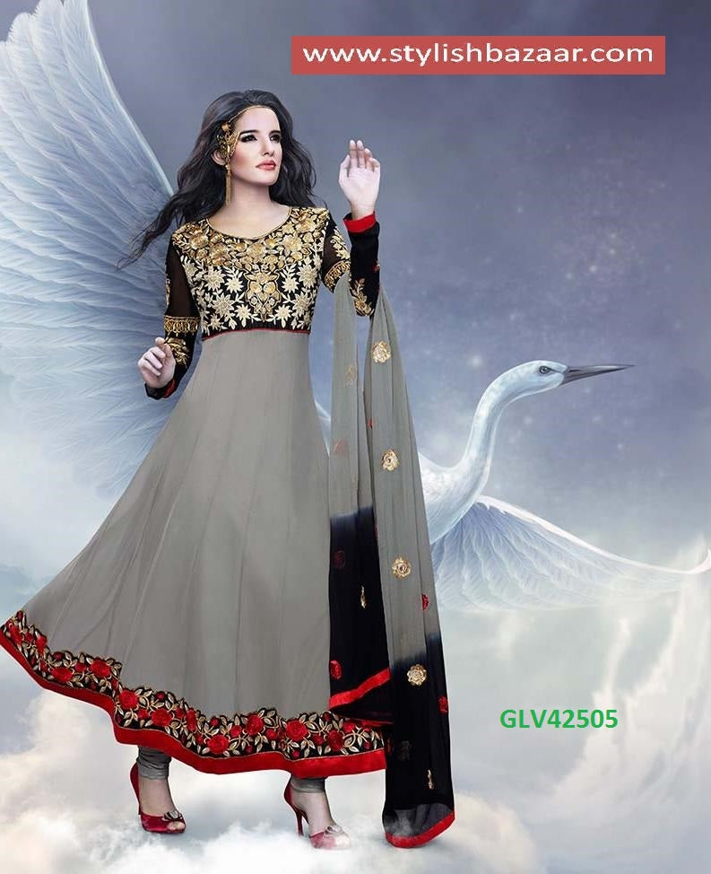 EYE-CATCHING DESIGNER ANARKALI SUIT