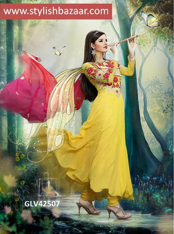 BEAUTIFUL YELLOW ANARKALI SUIT
