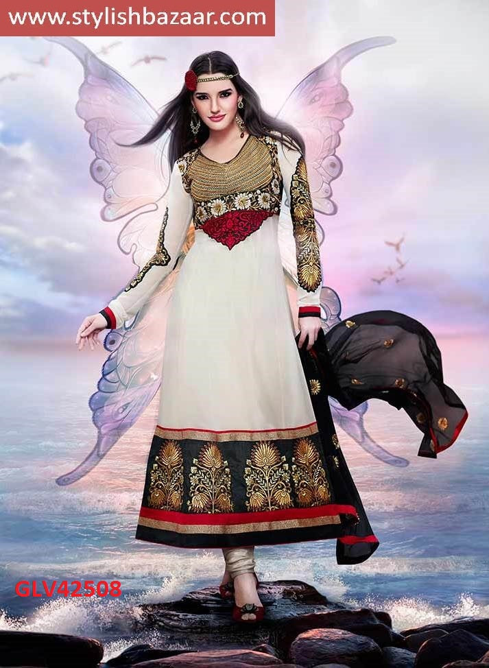 OUTSTANDING  OFF WHITE ANARKALI SUIT
