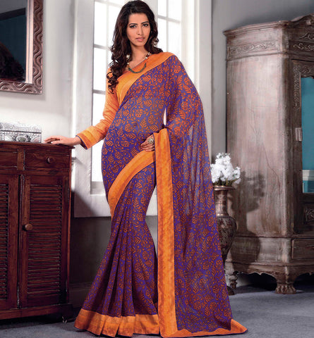 32706 PRINTED GEORGETTE CASUAL WEAR SAREE VSBM32706