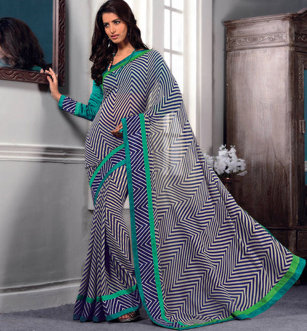 32710 PRINTED GEORGETTE CASUAL WEAR SAREE VSBM32710