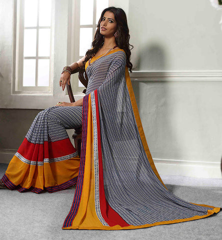32711 PRINTED GEORGETTE CASUAL WEAR SAREE VSBM32711