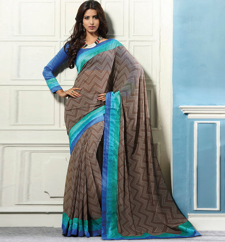32712 PRINTED SATIN CASUAL WEAR SAREE VSBM32712