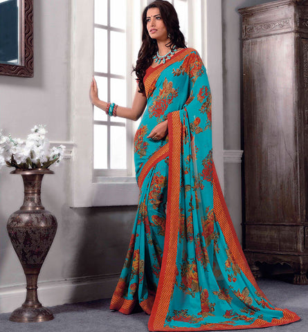 32720 PRINTED GEORGETTE CASUAL WEAR SAREE VSBM32720