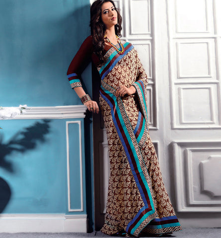 32721 PRINTED GEORGETTE CASUAL WEAR SAREE VSBM32721