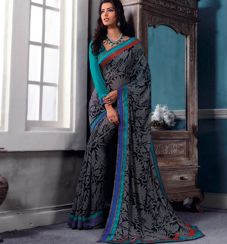32722 PRINTED GEORGETTE CASUAL WEAR SAREE VSBM32722