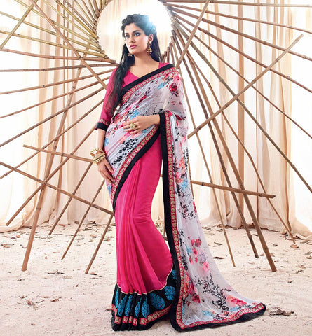33208 GEORGETTE SAREE FROM BOLLYWOOD MOVIE HOLIDAY RTHS33208<br /> STYLSIHBAZAAR - HOLIDAY - AKSHAY KUMAR - SONAKSHI SINHA - VISHAL FASHIONS - SURAT