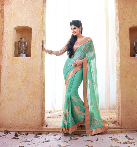 33216 GEORGETTE SAREE FROM BOLLYWOOD MOVIE HOLIDAY RTHS33216