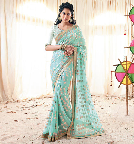 33222 PRETTY PINK SAREE FROM BOLLYWOOD MOVIE HOLIDAY RTHS33222