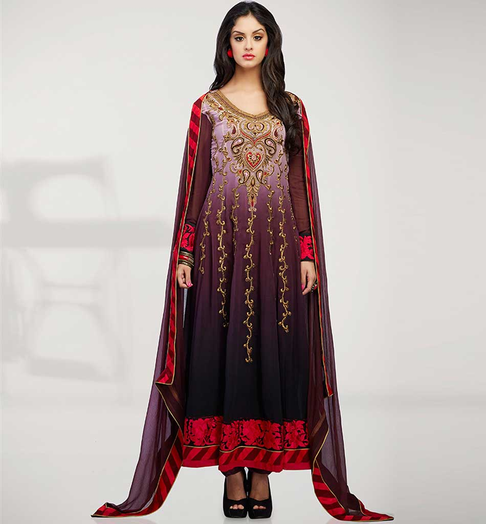 4004 EYE-CATCHING SHADED GEORGETTE ANARKALI RTWV4004