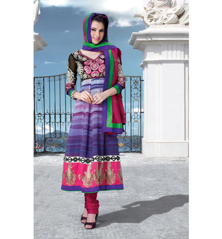 BEAUTIFUL DESIGNER PARTY WEAR CHURIDAR SALWAR KAMEEZ WITH DUPATTA