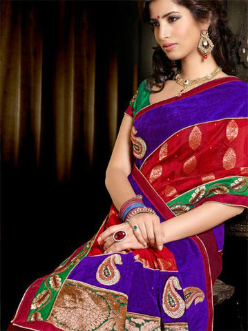 GORGEOUS DESIGNER WEDDING WEAR SAREE