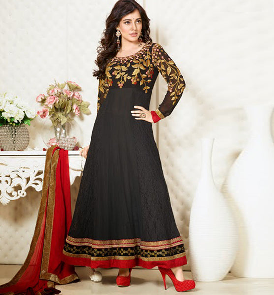 9423 VINAY CLUB BOLLYWOOD ILEANA D' CRUZ ANARKALI SALWAR KAMEEZ DRESS