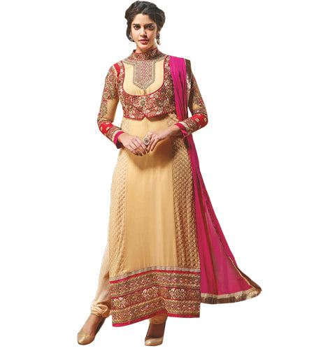 BEAUTIFUL BEIGE SALWAR KAMEEZ MJDS17A