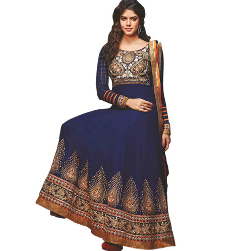 BEAUTIFUL BLUE ANARKALI DRESS MJDS12A