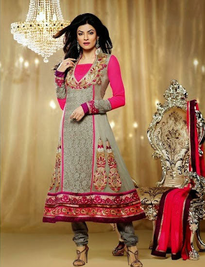 Indian designer dresses - Bollywood collection - Miss universe Sushmita sen anarkali dress and salwar suit