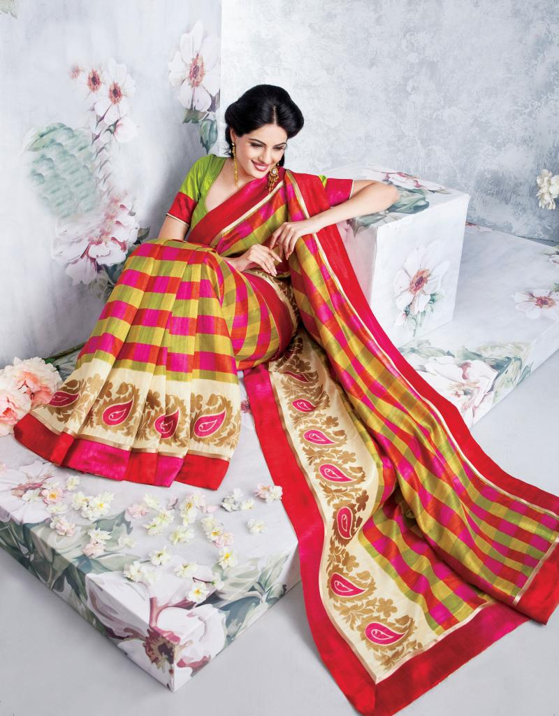 2014 Saree Designs - Latest Designer Art-Silk Sarees from StylishBazaar.com