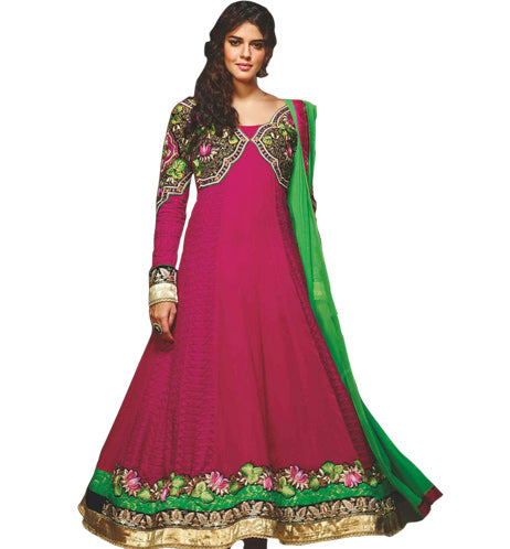 EXCITING DARK PINK ANARKALI DRESS MJDS16A