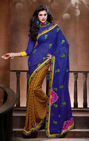 FANCY GEORGETTE PRINTED DESIGNER SAREE 1514