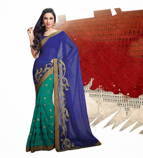 Bollywood Inspired JAI HO CHIFFON PARTY WEAR SAREE