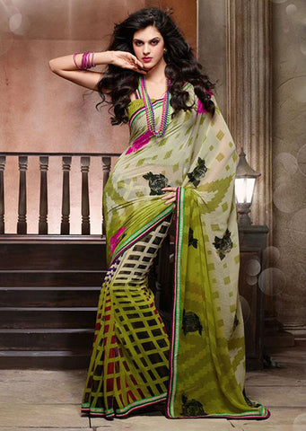 Indian casual wear Printed sarees