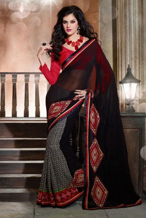 GORGEOUS GEORGETTE PRINTED DESIGNER SAREE 1519