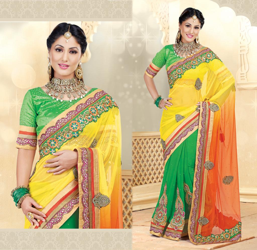 Hina Khan Sarees Akshara Saris Heena Khan Collection 1