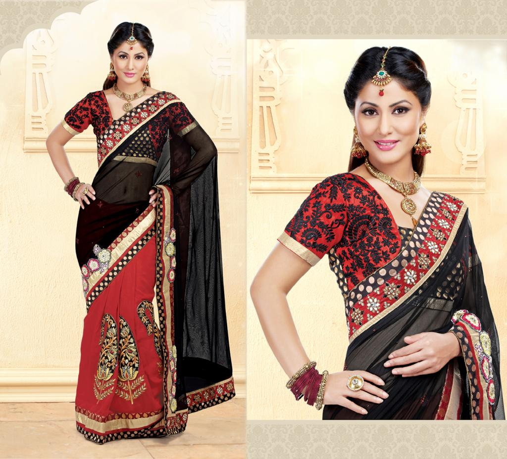 Hina Khan Sarees Akshara Saris Heena Khan Collection 2