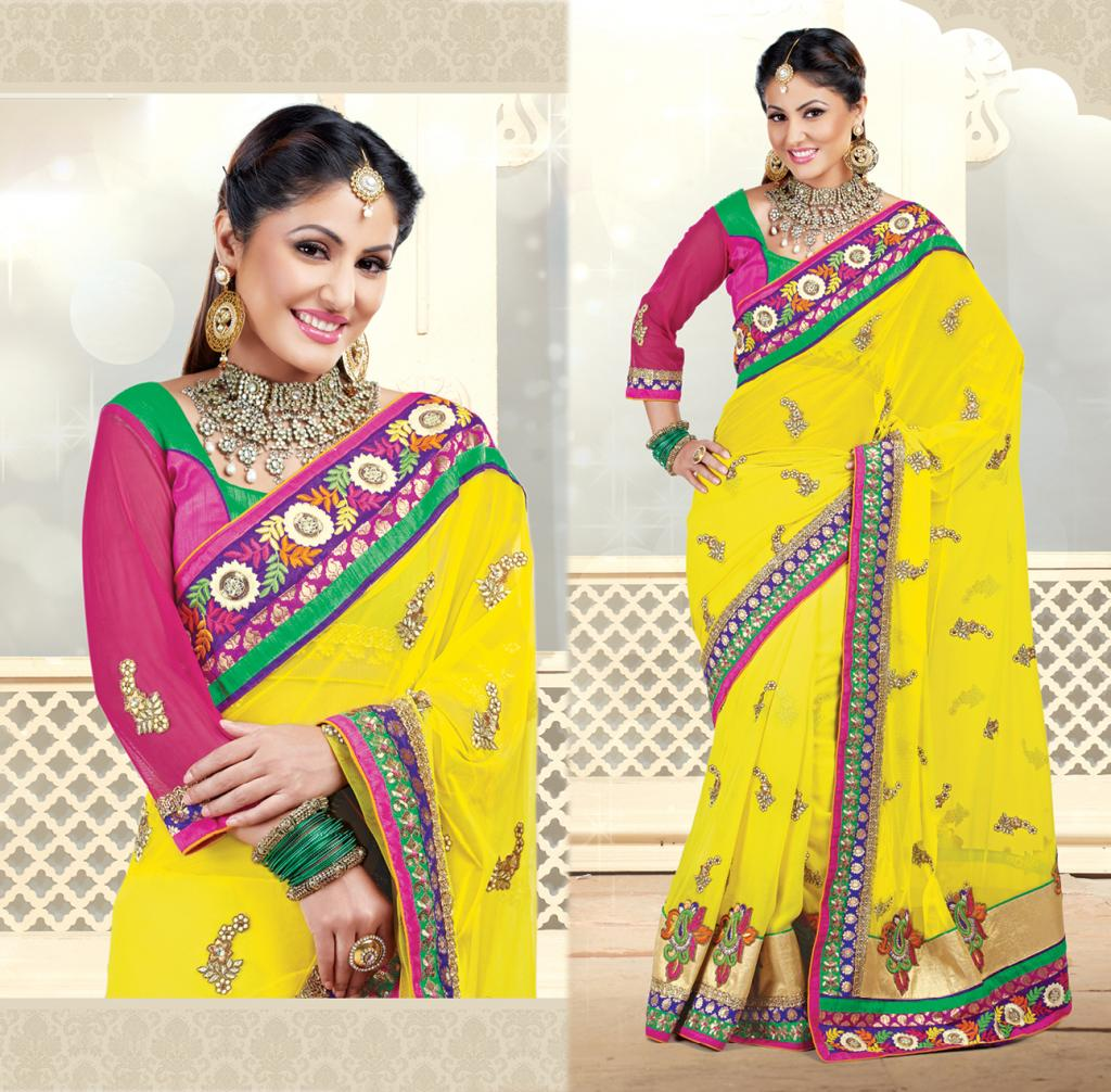 Hina Khan Sarees Akshara Saris Heena Khan Collection 3