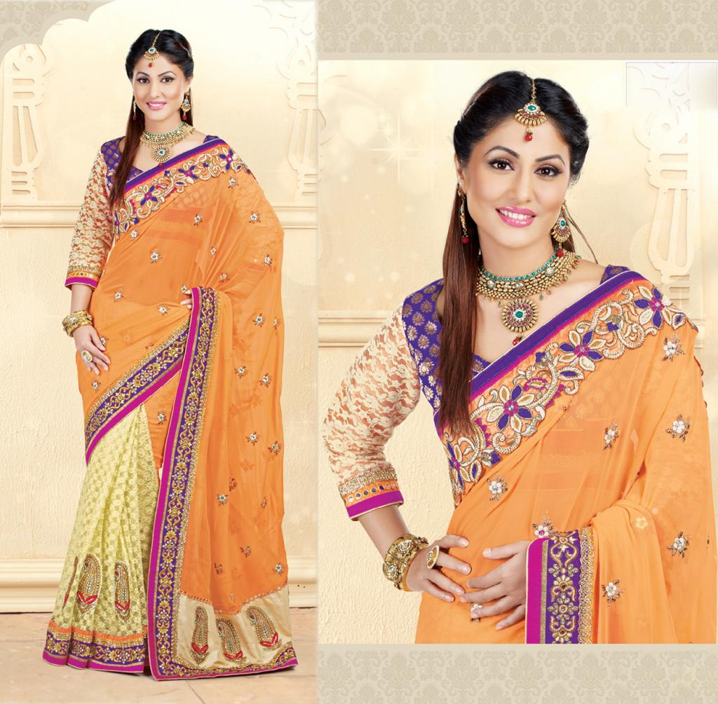 Hina Khan Sarees Akshara Saris Heena Khan Collection 4