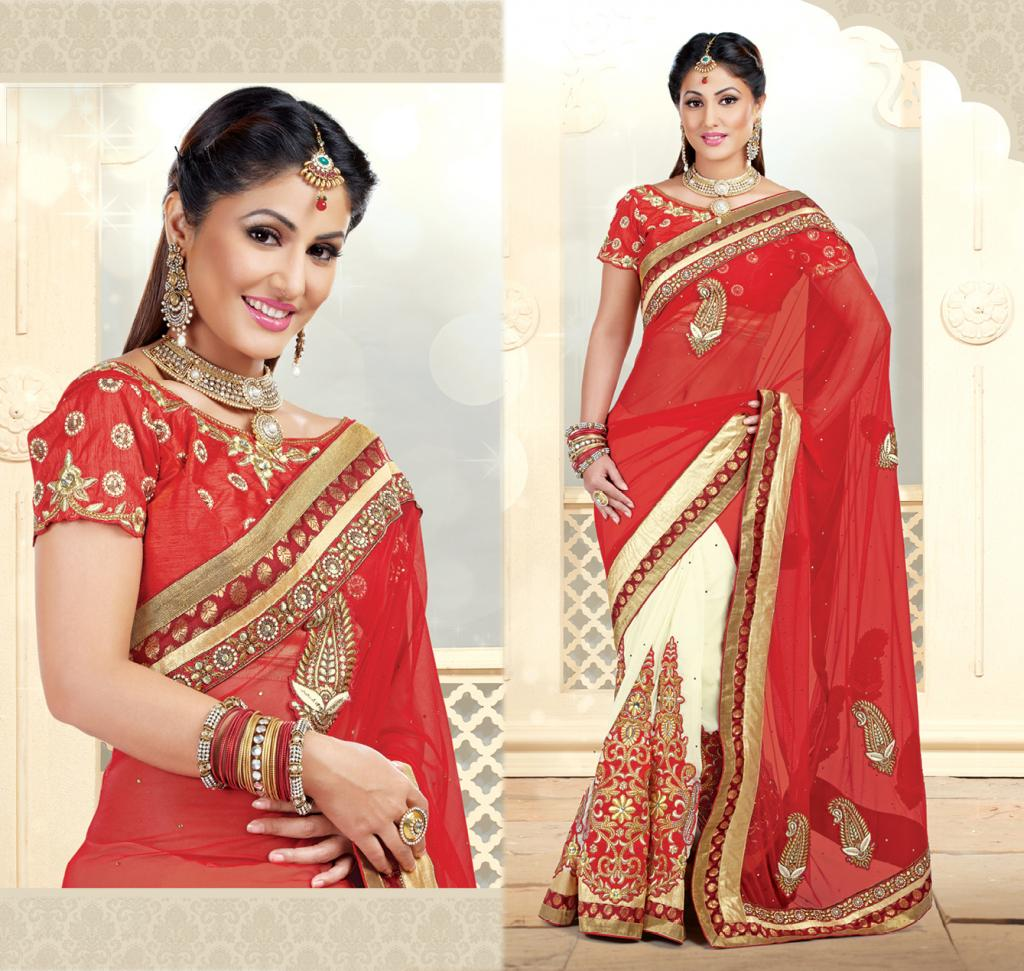 Hina Khan Sarees Akshara Saris Heena Khan Collection 5