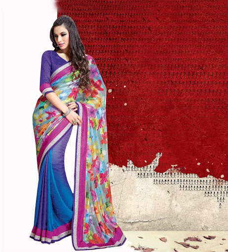 IRRESISTIBLE MULTICOLOR DESIGNER JAI HO SAREE