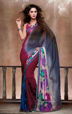 SUPERB GEORGETTE DESIGNER SAREE