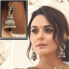 Jewellery - Stunning Ivory earrings with Black Moti