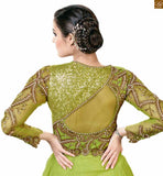 Embroidery, Tikki, Bid, Pearl work on three fourth sleeve, Bodice, Back & Neck on Long Maxi type Indian wear hot Image