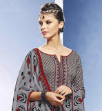 PRETTY GREY COTTON STRAIGHT CUT SALWAR SUITS WITH LOVELY STYLE CHUDIDAR DRESS PATTERNS SUIT FASHION 2015 PUNJABI SALWAR KAMEEZ COLOUR COMBINATIONS