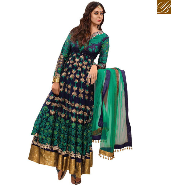 A STYLISH BAZAAR PRESENTATION EXCEPTIONALLY WELL DESIGNED SALWAAR KAMEEZ FOR PARTIES RMETH12