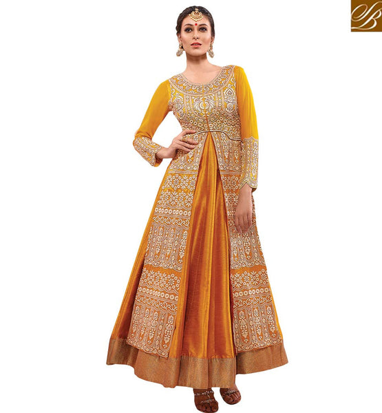 FROM THE HOUSE  OF STYLISH BAZAAR DAZZLING YELLOW SALWAAR SUIT FOR ALL OCCASIONS RMETH15