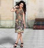 PURCHASE LATEST DIGITAL PRINT COTTON KURTIS GREEN KNEE HEIGHT TOP MADE FROM COMFORTABLE FABRIC
