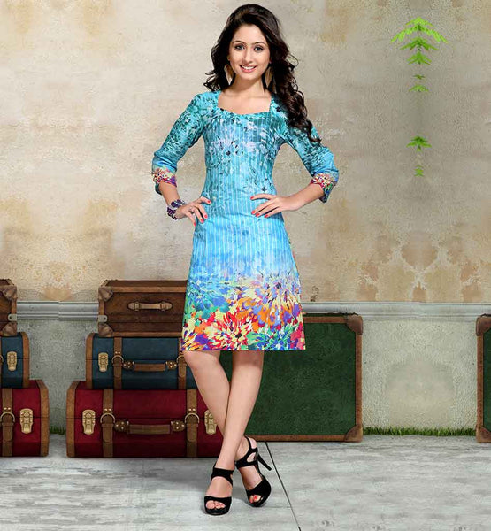 Sky Blue ONLINE SHOPPING FOR COMFORTABLE LADIES KURTIS