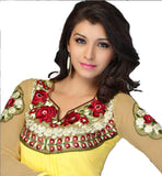beautiful image Indian kurti with floral embroidery