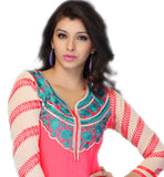 attractive kurti wirh nice embroidery on neckline
