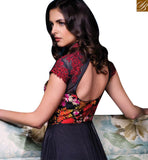 STYLISH BAZAAR INTRODUCES DELIGHTFUL BLACK NET SILK DESIGNER SALWAR KAMEEZ HAVING GOWN STYLE SLISM08