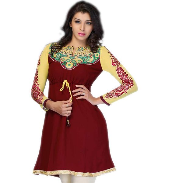 LATEST PATTERN DESIGNER INDIAN PARTY WEAR TUNIC TOP 2015 COLLECTION