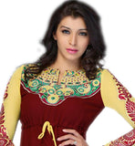 new design Indian kurti with with embroidered sleeves