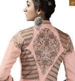 STYLISH BAZAAR REMARKABLE PEACH COLORED BEAUTIFUL DESIGNED SALWAR KAMEEZ SLSAR10001