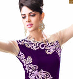 INDIAN WEDDING RECEPTION DRESSES FOR WOMEN ZOYA EMPRESS SPLASH 10001c FROM THE HOUSE OF STYLISH BAZAAR