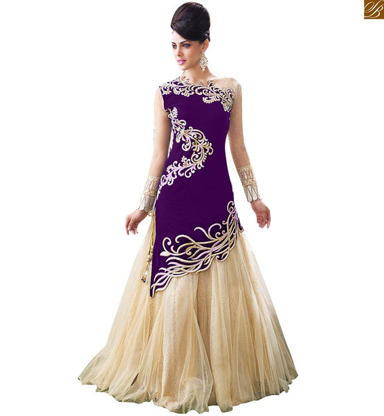 INDIAN WEDDING RECEPTION DRESSES FOR WOMEN ZOYA EMPRESS SPLASH 10001c FROM STYLISH BAZAAR